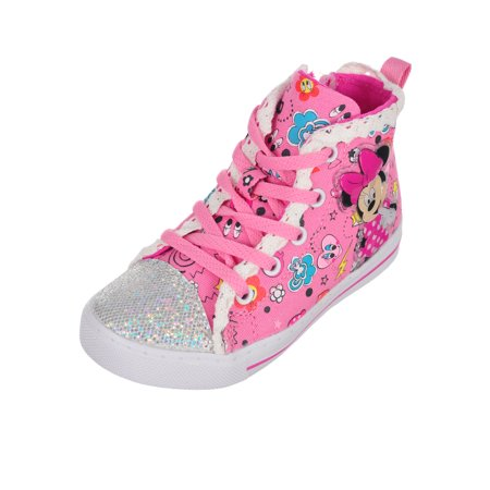 Minnie Mouse Girls' Light-Up Hi-Top Sneakers (Sizes 6 - 12) for $<!---->