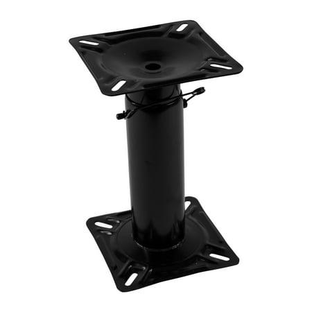 Wise 8WD1255 Black Steel Adjustable Seat Pedestal (Power Boat Seat Pedestal)