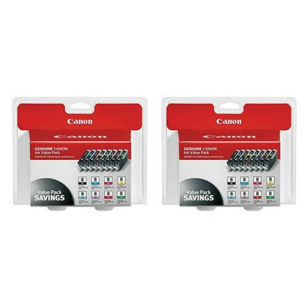 Canon CLI-8 8-Color Multipack Ink Cartridge (2-Pack) CLI-8 8 Color Multipack Canon Cli 8 Cartridges
