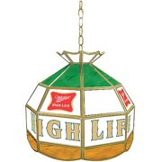 "Trademark Global Miller High Life 16"" Stained Glass Tiffany Lamp Light Fixture"