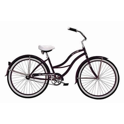 "26"" Micargi Tahiti Women's Beach Cruiser Bike, Black"