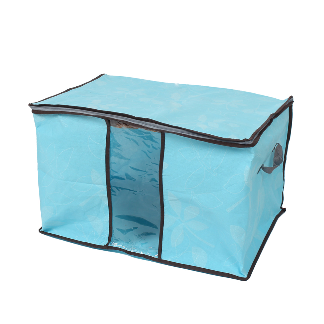 Blanket Pillows Quilts Clothes Beddings Storage Bag Organizer Blue 60x35x42cm by Unique Bargains