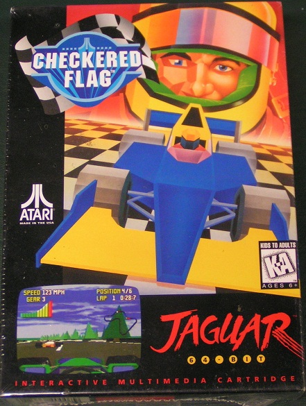 Superb New Atari Jaguar   Checkered Flag