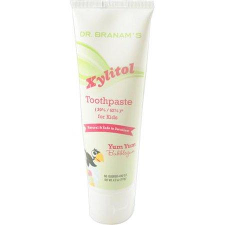 Branam Santé bucco-dentaire Xylitol Toothpaste pour les enfants, Miam miam Bubblegum, 4,2 oz (Lot de 2)