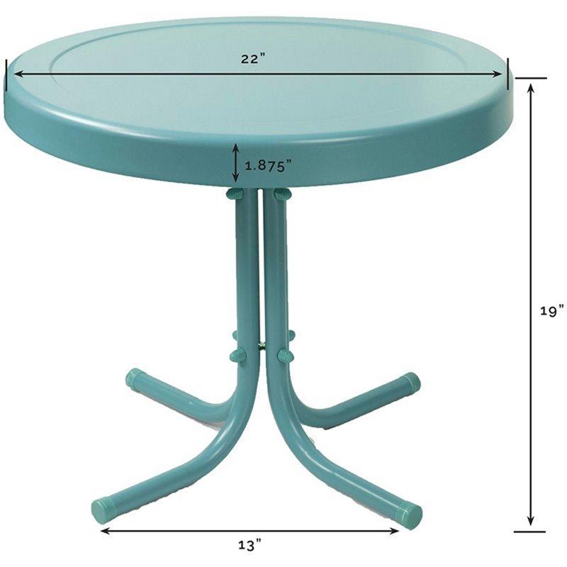 Crosley Furniture Retro Metal Side Table Walmart Com Walmart Com