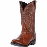 "Laredo Western Boots Mens 12"" Marshall R Toe Leather Cognac 6735"