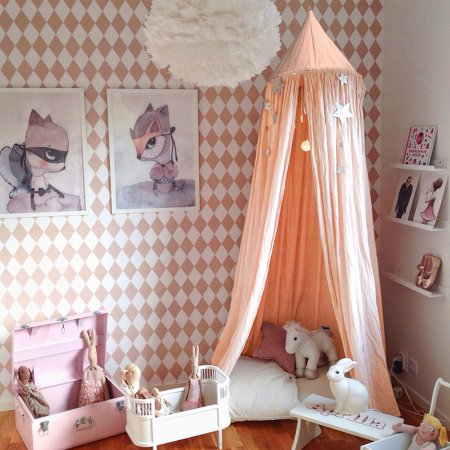Princess Bed Canopy Mosquito Net For Kids Baby Crib Round Dome Kids