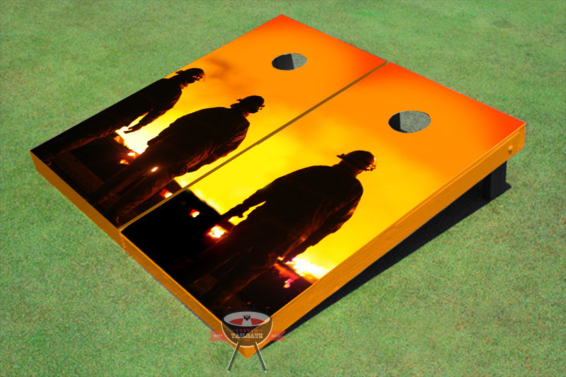 Fire Fighters Trio Themed Cornhole Boards by All American Tailgate