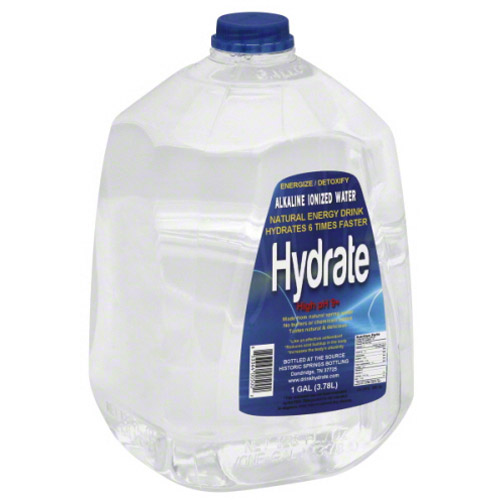 Hydrate High pH 9+ Alkaline Ionized Water, 1 gal, (Pack of 4)