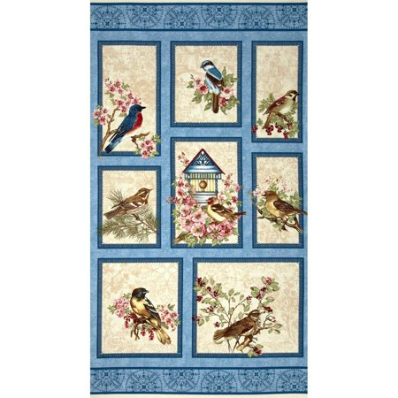 Lap Quilts Quilted Wall Hangings - Quilted Wall Hanging,Birds,Spring Scene, Birds of a Feather,