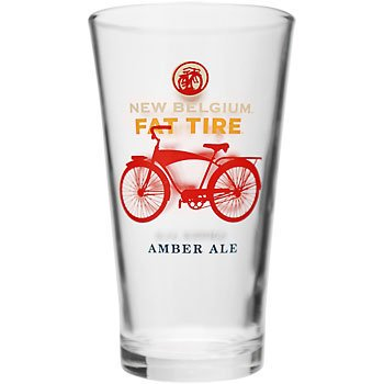 Fat Tire Pint Glass, (1) Brand New New Belgium Fat Tire Pint Glass By New Belgium Brewery,USA ()