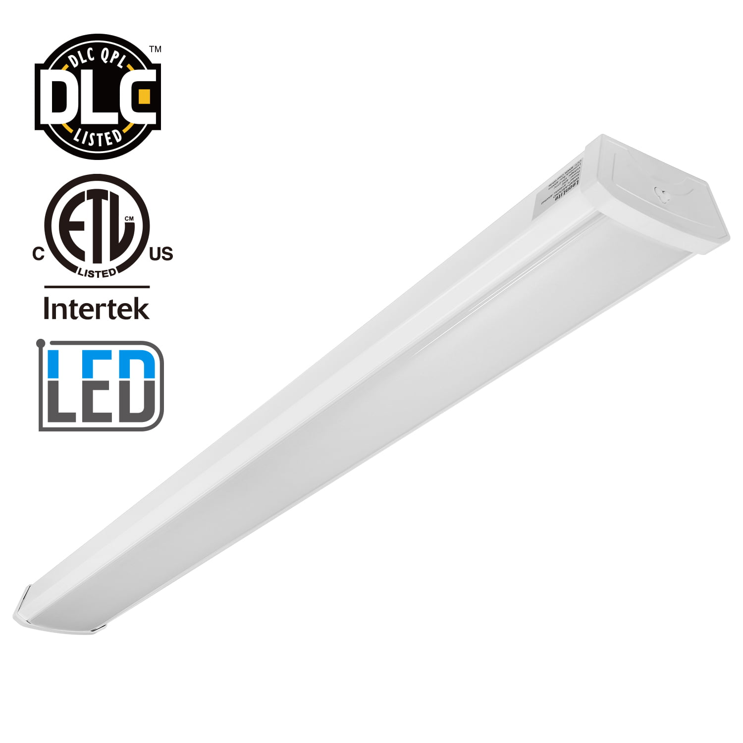 LEONLITE LED Garage Shop Light, Wraparound Flush Mount ...