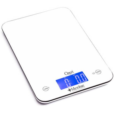 ozeri touch ii 18 lbs digital kitchen scale with microban antimicrobial product protection - Digital Kitchen Scale