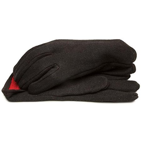 - BLACKCANYON OUTFITTERS R 69000 L BROWN JERSEY GLOVES WITH RED FLEECE LINING AND OPEN CUFF - LARGE  1 PAIR