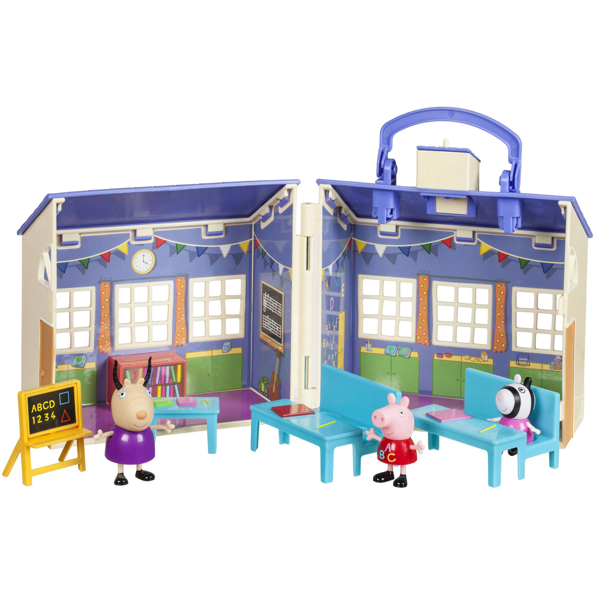 Toys For School : Peppa pig peppas school playset schoolhouse toy madame