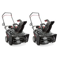 "Briggs & Stratton 22"" 208cc Electric Start Gas Snow Blower Thrower (2 Pack)"