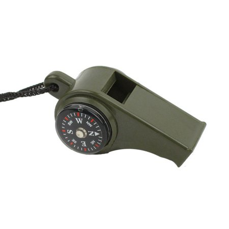 3 in 1 Survival Whistle With Built in Thermometer Compass Magnifier Caroj - image 5 de 6