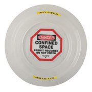 ALLEGRO Danger Sign, 4In, BK and R/WHT, ENG, Text 9400-26