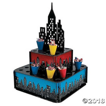 Superhero City Tray with Cones - Includes 32 assorted 5