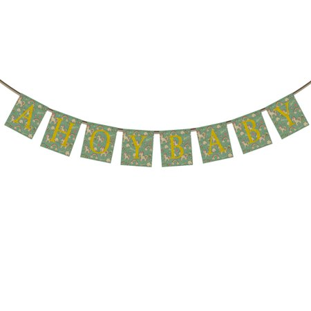 GCKG AHOYBAY Banner Bunting 1st First Birthday Banner,Lovely Unicorn Background Banner Garland Flag for Baby Boy Girl First Birthday Party Decorations