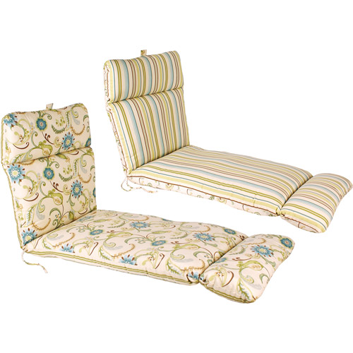 Jordan Manufacturing Reversible Outdoor French Edge Chaise Cushion, Multiple Colors