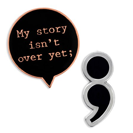 e76de77987ac PinMart s Semicolon Mental Health Awareness Suicide Prevention Pin Set -  Walmart.com