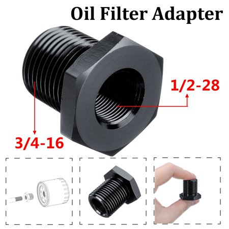 1/2-28 to 3/4-16 Threaded Suppressor Oil Filter Adapter Screw Steel