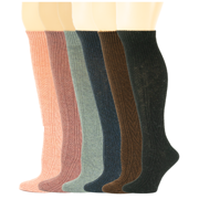 Sumona 6 Pairs Women Cable Knit Winter Wool Knee High Boot Socks