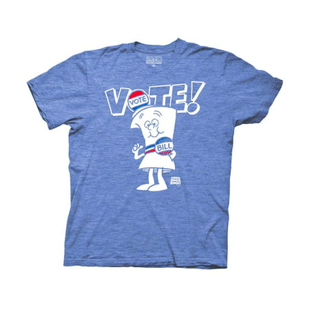 Schoolhouse Rock Vote with Bill White Type Adult T-Shirt Heather Royal