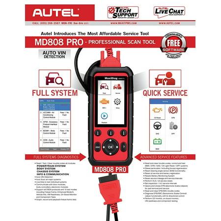 Autel MD808 Pro All System Auto Diagnostic Tool OBD2 Code