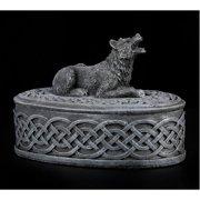 5 Inch Howling Werewolf Topped Oval Jewelry/Trinket Box Figurine