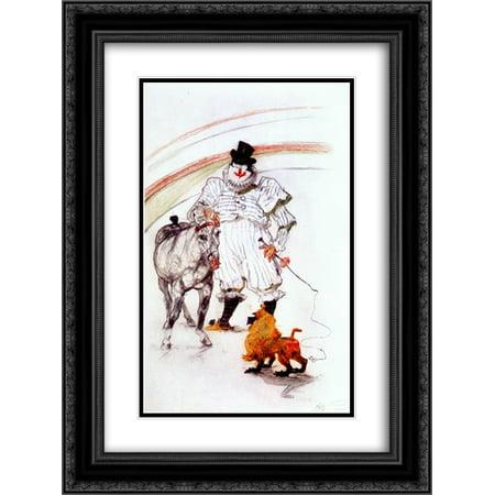 Henri de Toulouse Lautrec 2x Matted 20x24 Black Ornate Framed Art Print