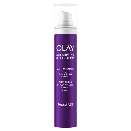 (Olay Age Defying Anti-Wrinkle 2-in-1 Day Cream Plus Face Serum, 1.7 oz)