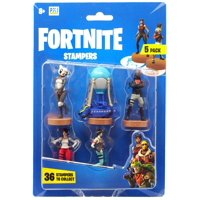 Fortnite Series 1 P.A.N.D.A. Team Leader, Battle Bus, Burnout, Red Nosed Raider & Snorkel Ops Stamper 5-Pack