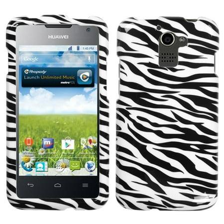 For M931 Premia 4G Zebra Skin Hard Snap Phone Protector Cover -