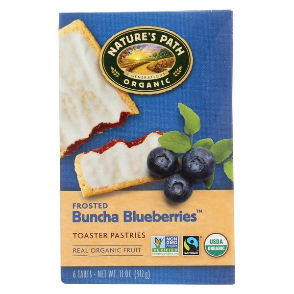 Nature's Path Organic Frosted Toaster Pastries - Buncha Blueberries - Pack of 12 - 11 Oz.