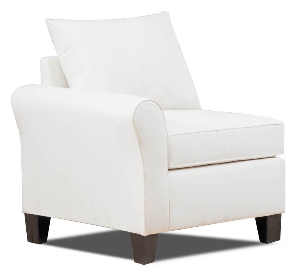 Carolina Accents Belle Meade Left Armchair, Natural by Carolina Accents