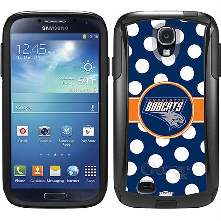 Charlotte Bobcats Polka Dots Design on OtterBox Commuter Series Case for Samsung Galaxy S4 by