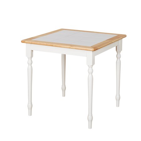 Natural Breakfast Table (TMS Tile-Top Square Dining Table, White/Natural )