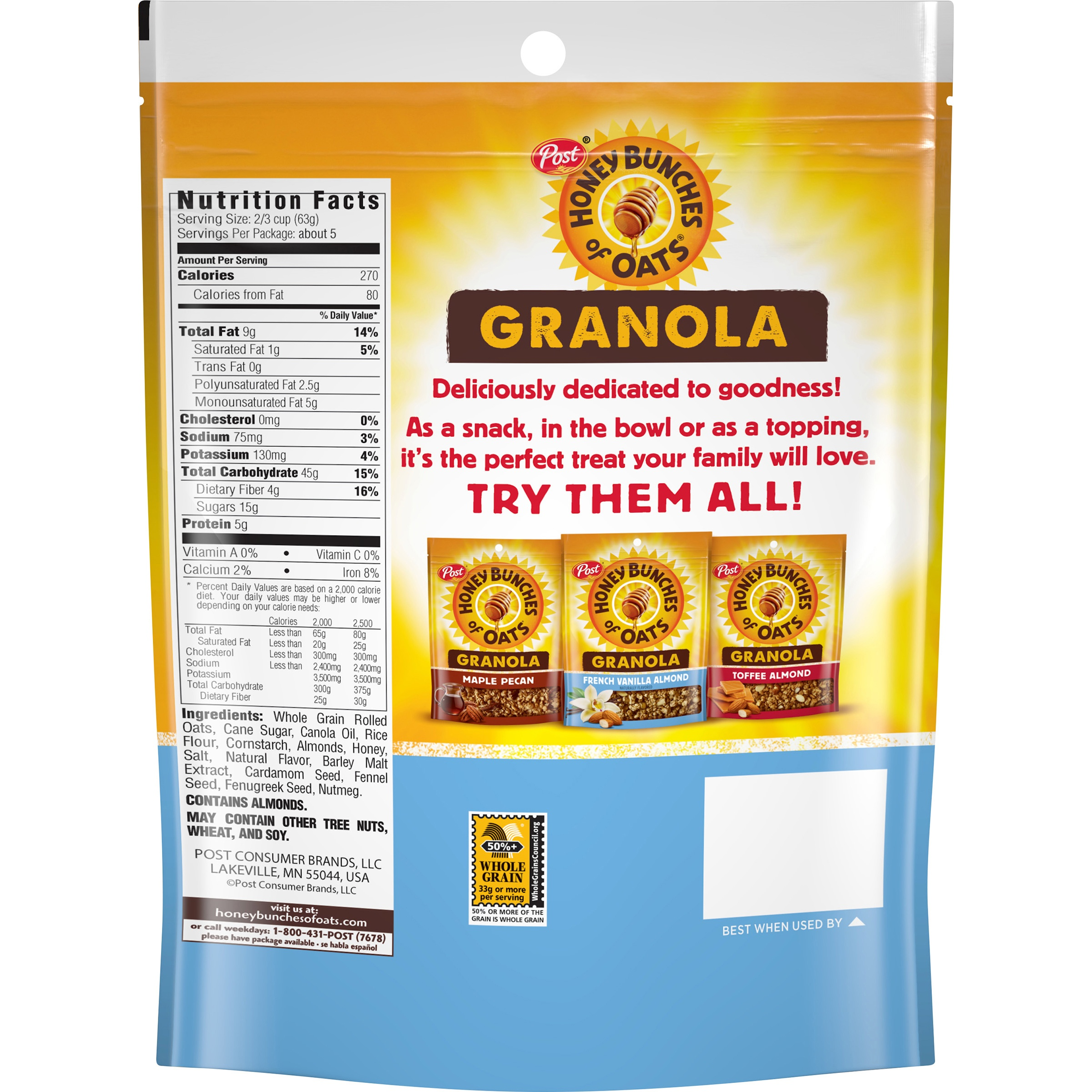 31 Honey Bunches Of Oats Food Label Labels Database 2020