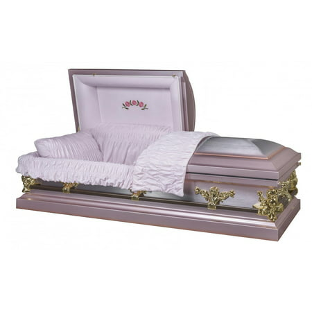Overnight Caskets, Funeral Casket, Briar Rose Lilac With Pink
