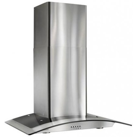 B5636SS 35.44 Arched Glass Chimney Style Hood with 450 cfm Single centrifugal blower  Multi-Speed Control  Convertible to non-ducted operation in Stainless Steel