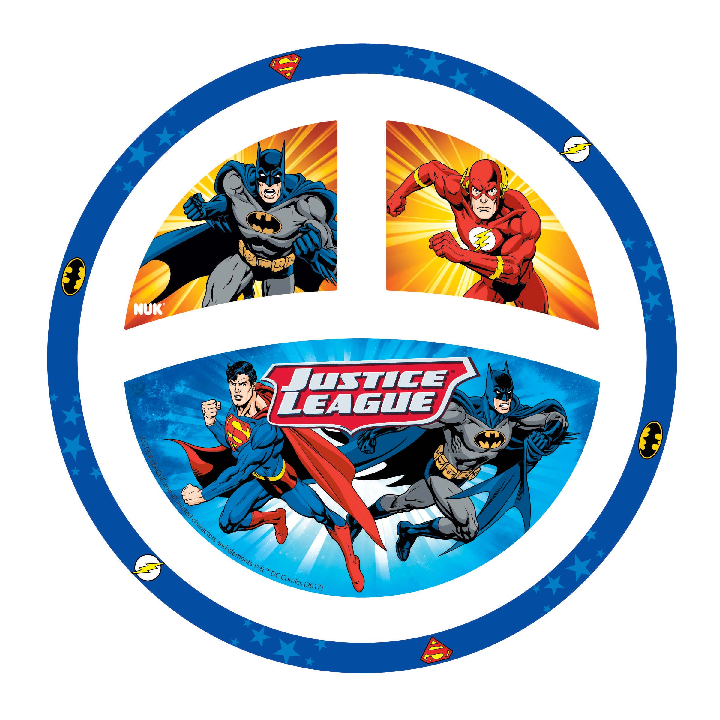 NUK® Justice League Dinnerware Plate, Batman/Justice League