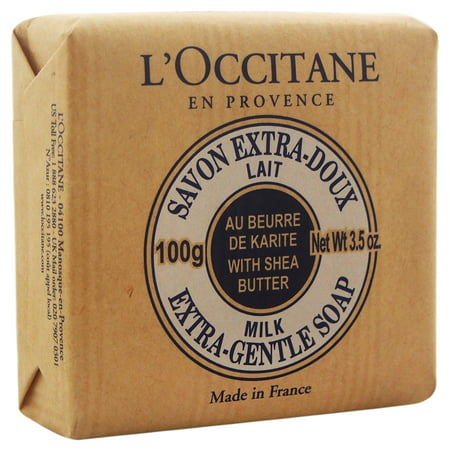 Shea Butter Extra Gentle Soap - Milk by LOccitane for Unisex - 3.5 oz Soap - image 1 of 1