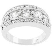 Sunrise Wholesale J2182 Silvertone Illumination Cubic Zirconia Ring - Size 05
