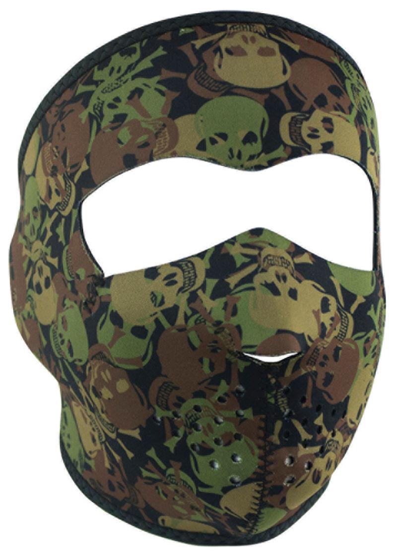 ZanHeadgear WNFM418, Full Face Neoprene Face Mask, Ski Mask, Reverses to Black All Over Skull Camo by Balboa Manufacturing