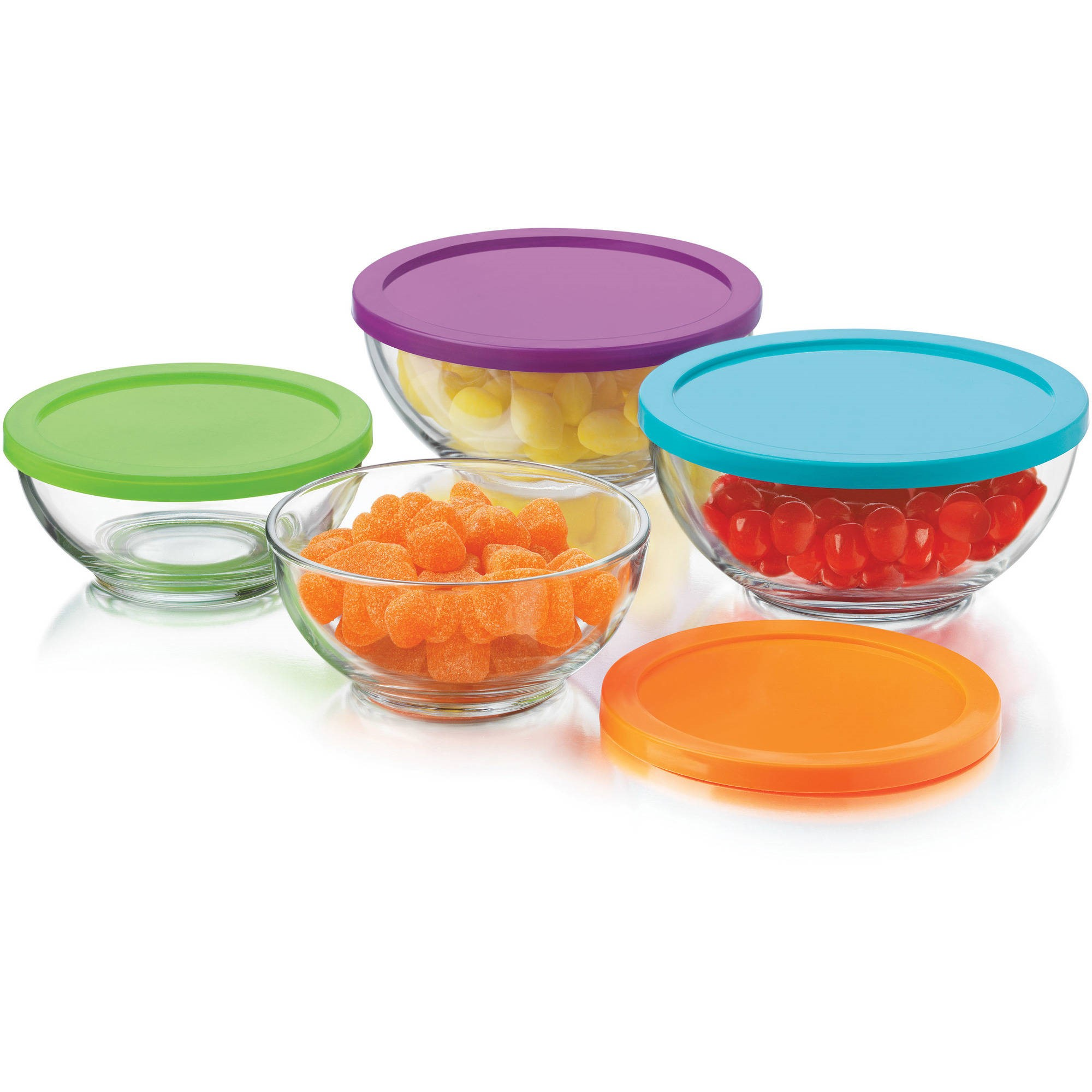 Libbey 8pc Moderno Bowls with lids