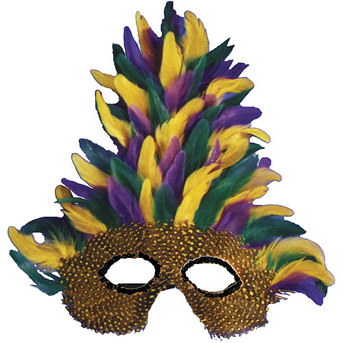 Tall Feather Mardi Gras Mask Accessory