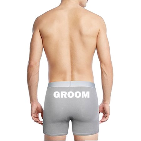 Boxer Briefs Groom Underwear Bachelor Best Man Groomsmen (Sold