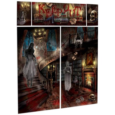 Halloween Dungeon Scene Setters (Gothic Halloween Haunted House Mansion Party Scene Setter Wall Decorating)